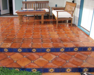 Clay Floor Tile In A Patio